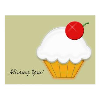Cherry Cupcake Art Postcards