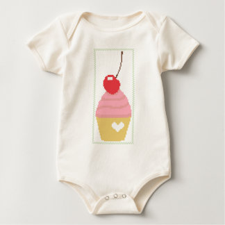cherry cupcake baby bodysuit
