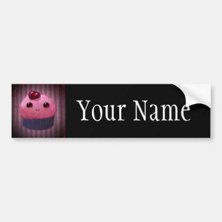 Cherry Cupcake Bumper Sticker