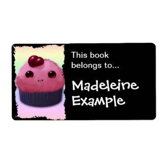 Cherry Cupcake Shipping Label