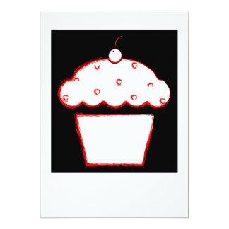 cherry cupcake polaroid 13 cm x 18 cm invitation card