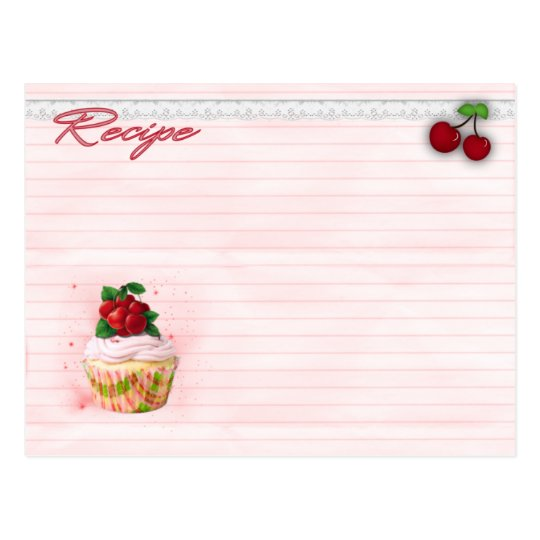 cherry cupcake recipes postcard