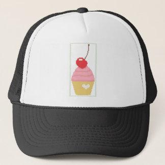 cherry cupcake trucker hat
