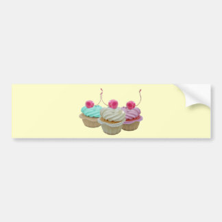 Cherry cupcakes bumper sticker