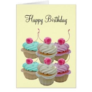 Cherry cupcakes card