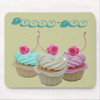 Cherry cupcakes mouse mat