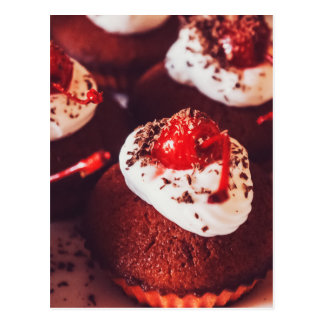 Cherry Cupcakes Postcard