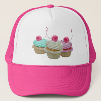 Cherry cupcakes trucker hat