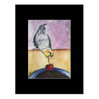 Cherry Dip (cockatiel) ACEO Art Trading Card