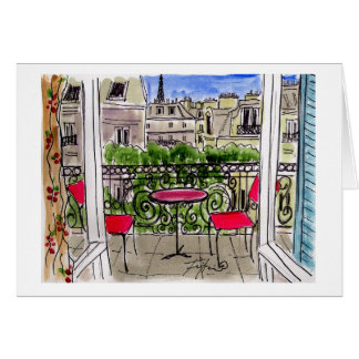Cherry Drapery in Paris Card