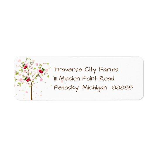 Cherry Farm Address Label