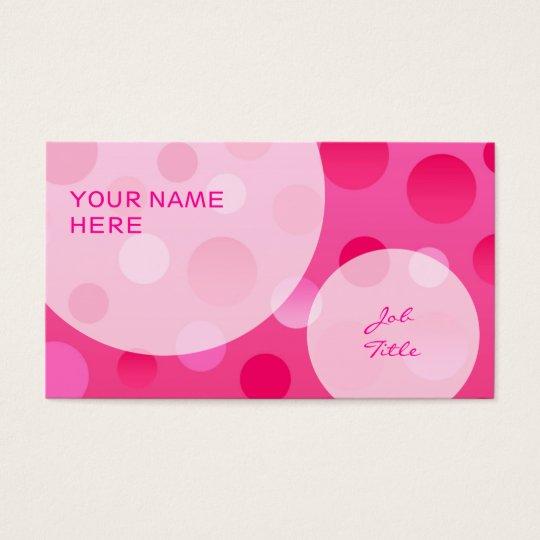 Cherry Fizz business card template bubbles