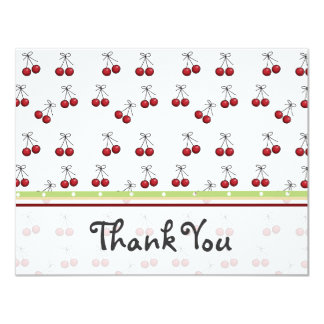 Cherry Flat Thank You Card 11 Cm X 14 Cm Invitation Card