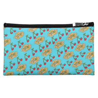 Cherry Flower Cosmetic Bag