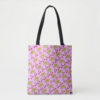 Cherry Flower Pattern Design Tote Bag