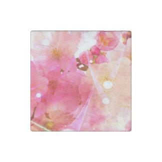 Cherry Flower Stone Magnet