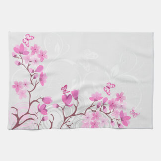 Cherry Flowers Kitchen Towel