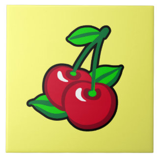 Cherry for cherry pickers large square tile