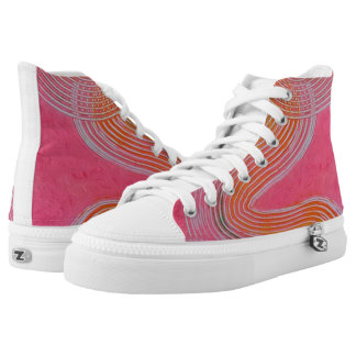 Cherry Frosting Hi-tops Printed Shoes
