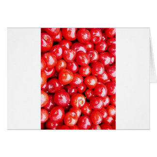 Cherry Fruit Health Remind Healthy Pink Passion Be Greeting Cards