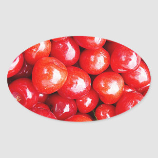 Cherry Fruit Health Remind Healthy Pink Passion Be Oval Sticker