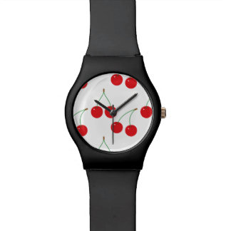 Cherry Fruit Pattern Watch