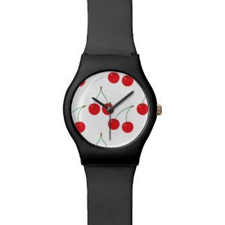 Cherry Fruit Pattern Wristwatch