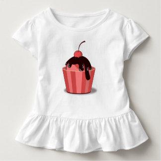 Cherry Fudge Sundae Toddler Ruffle Tee