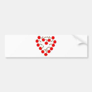 Cherry Heart Bumper Sticker