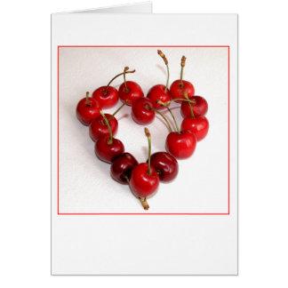 Cherry Heart Greeting Card