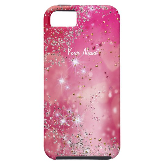 Cherry Heart Sparkle - Customise iPhone 5 Covers