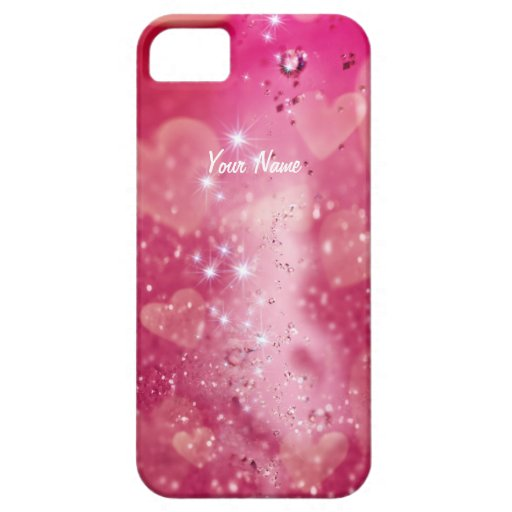 Cherry Heart Sparkle -Customize iPhone 5 Case