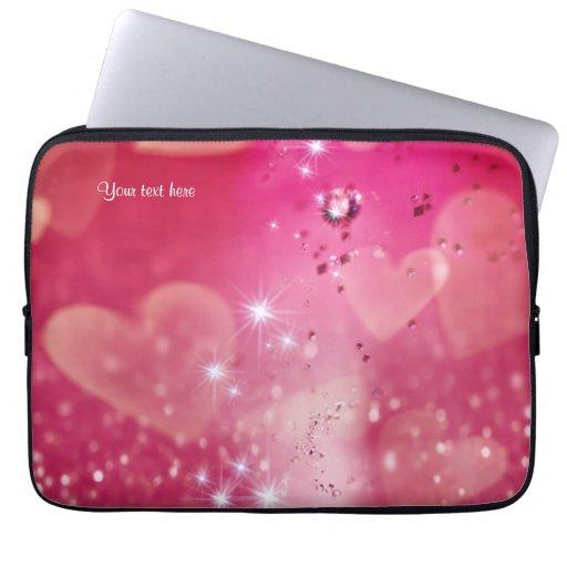Cherry Heart Sparkle Laptop Sleeve