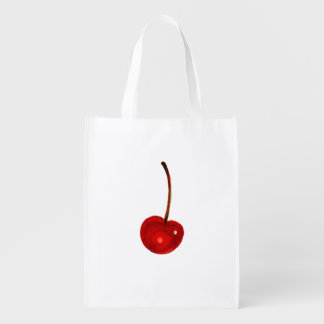 Cherry Illustration Reusable Grocery Bags