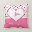Cherry Inspired Pink Polka-Dots Ballet Dancer Cushion