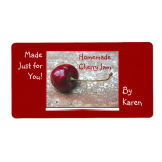 Cherry Jam label Shipping Label