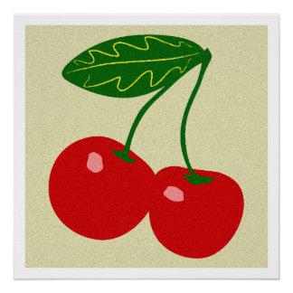 Cherry, Kitchen Art, Food, Minimalist Poster