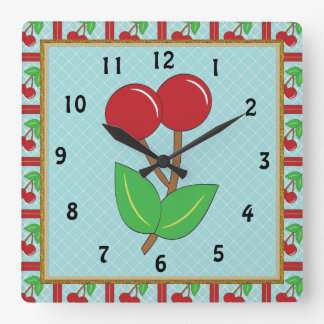 Cherry Kitchen Clock