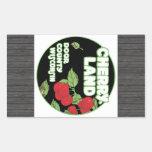 Cherry Land Door County Wisconsin, Vintage Rectangular Sticker