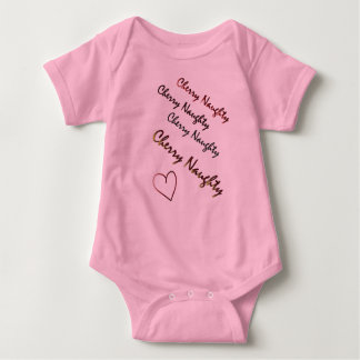 Cherry Naughty original design logo baby body suit Baby Bodysuit
