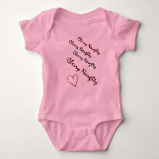Cherry Naughty original design logo baby body suit Tshirt