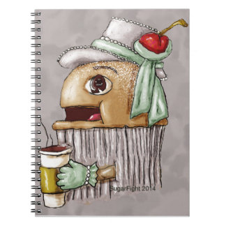 Cherry on Top Cupcake with Coffee Notebook