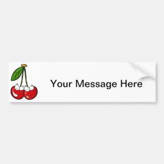 Cherry Pair Bumper Sticker