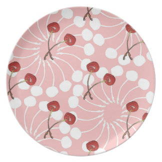 Cherry Pair Pattern (White Chocolate + Strawberry) Plates