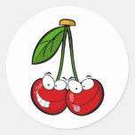 Cherry Pair Round Sticker