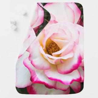 Cherry Parfait Rose Baby Blanket
