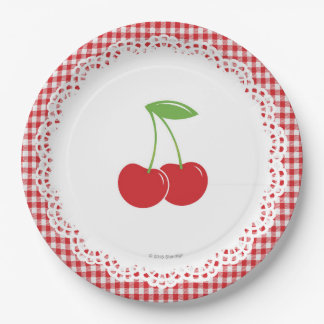 Cherry Party Paper Plate 9 Inch Paper Plate