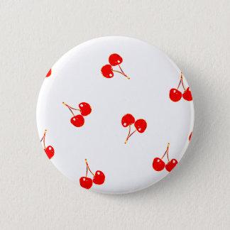 Cherry Pattern Pop Version 6 Cm Round Badge