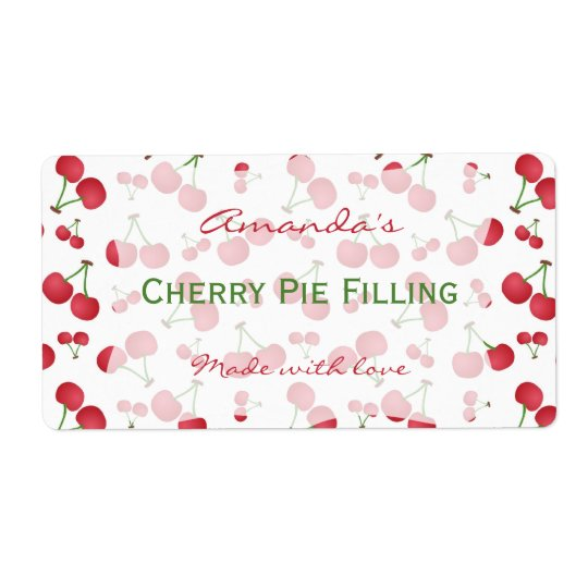 Cherry Personalised Canning Label
