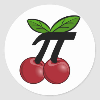 Cherry Pi Classic Round Sticker